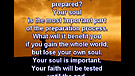 Are you ready and prepared? – April 22, 2011