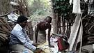 Feeding the HIV/AIDS effected man