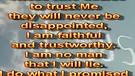 Decide to trust Me – January 24, 2012