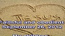 Faithful and obedient – September 26, 2012