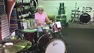 Granny Amazes Music Shop With Drum S...
