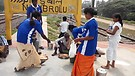 Feeding Mission at Railway Station i...