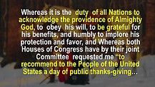 First Thanksgiving Proclamation by George Washington