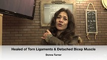 Healed of Torn Ligaments & Detached Bicep Muscle