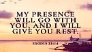 My presence will go with you