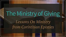 The ministry of giving