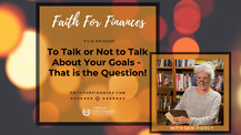 To Talk or Not to Talk About Your Goals - That is the Question,