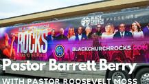 Pastor Barrett Berry presents guest Pastor Roosevelt Moss