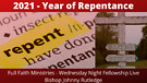 2021 The Year of Repentance