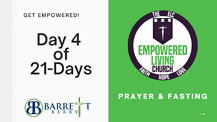 Day 4 of 21Days of Prayer and Fasting