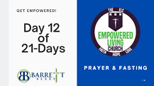 DAY 12 of 21-Days of Prayer and Fastaing