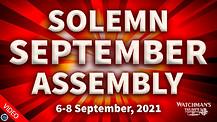 Solemn September Assembly September 6-8, 2021.